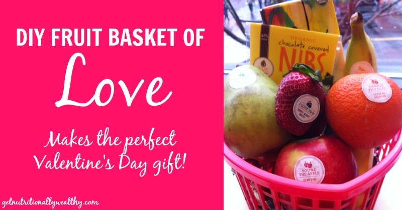 diy fruit basket of love for valentine's day - nw, Ideas