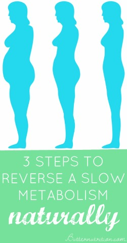 3 Steps to reverse a slow metabolism naturally! (#1 is an eye opener!)