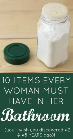 10 Item Every Woman MUST have in her bathroom! (you'll wish you discovered #2 & #5 YEARS ago…)