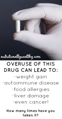 Overuse of this drug causes weight gain, can lead to autoimmune disease, food allergies, liver damage and even cancer! Chances are you've taken it at least a dozen times. | Nutritionally Wealthy