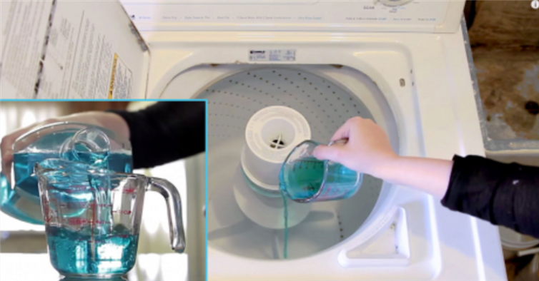 how to clean your washing machine with mouthwash